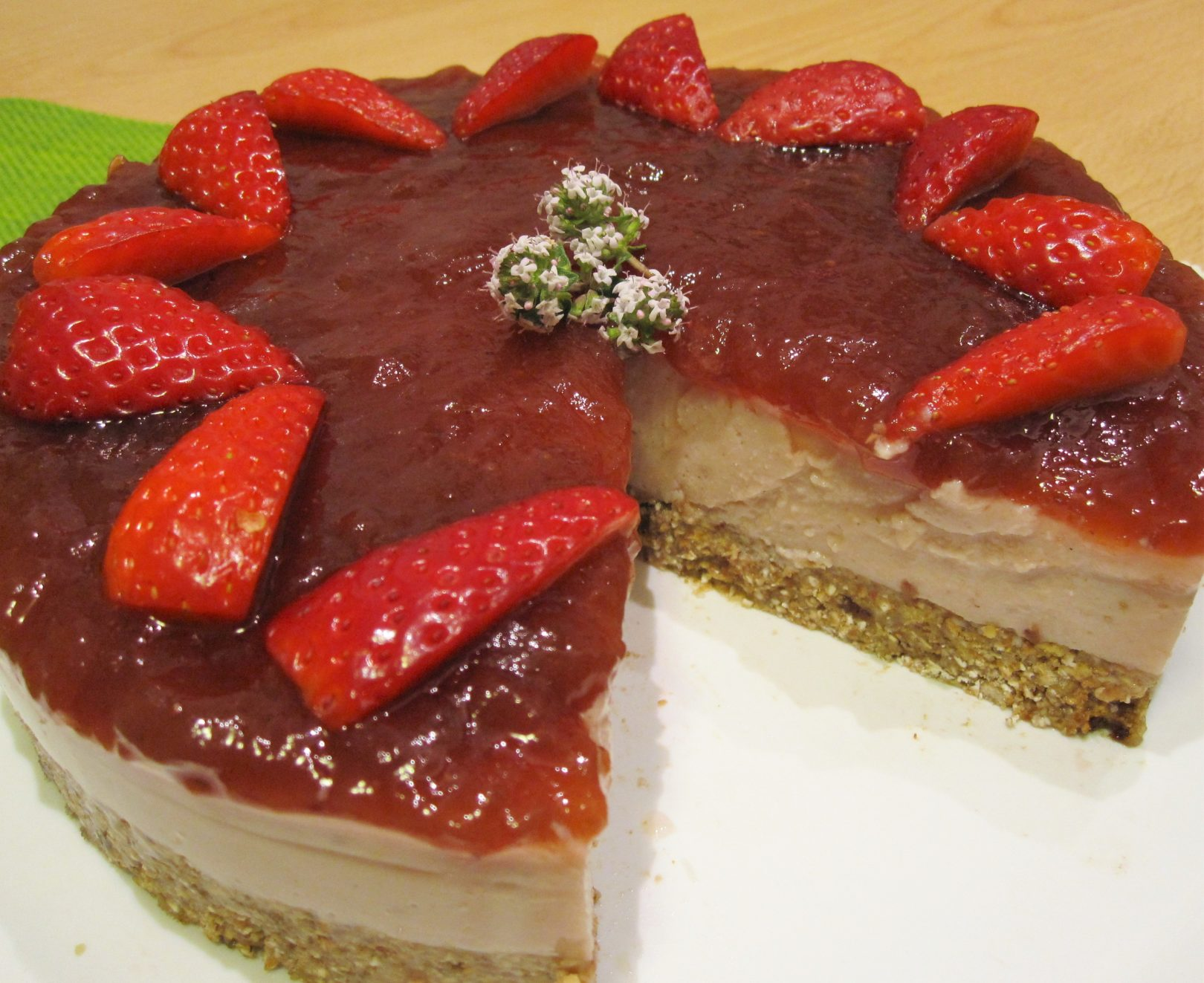 Vegan cheesecake alle fragole