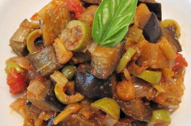 Caponata di melanzane agrodolce alla siciliana senza frittura