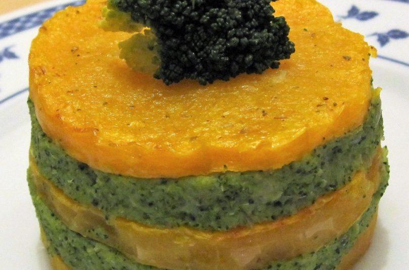 Torretta di zucca Butternut e broccoletti