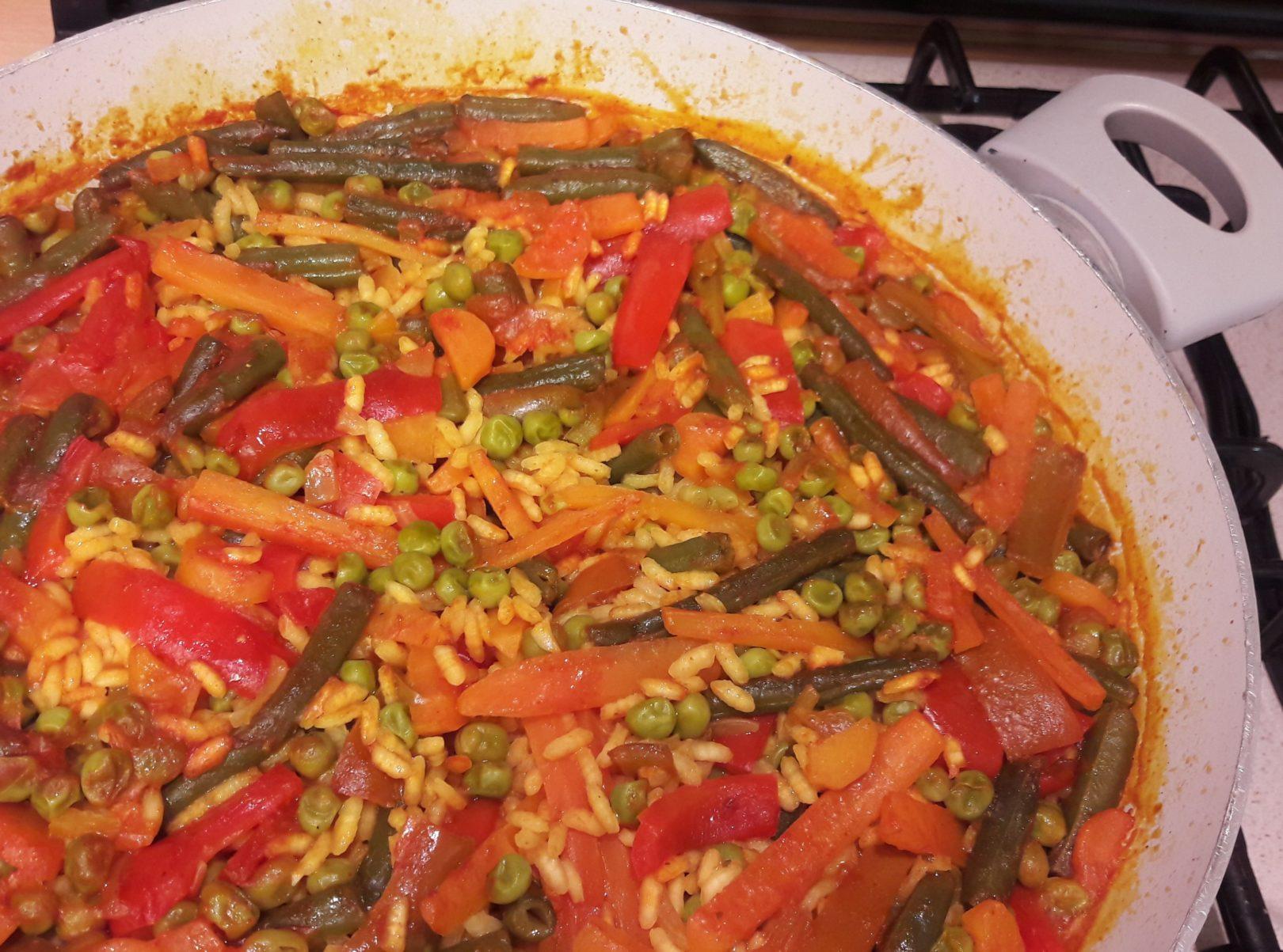"""Paella de verduras"" super ricca"