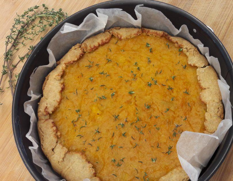 Crostata salata alla zucca con pasta brisé glutenfree